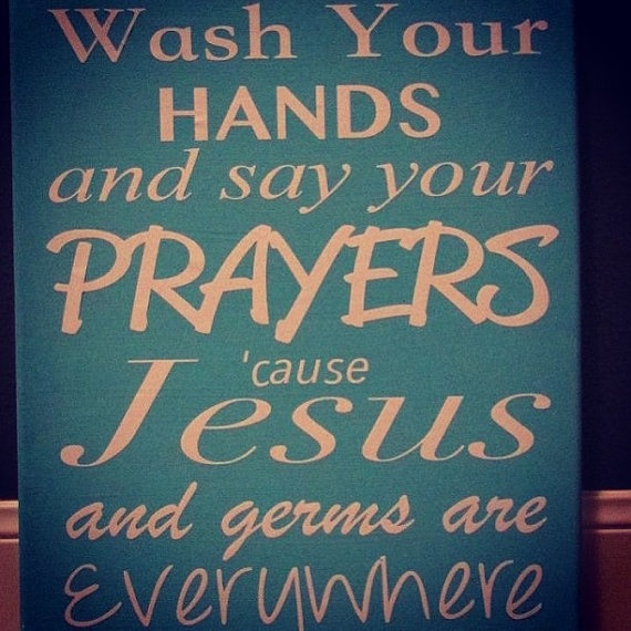 Bathroom Canvas Quote by AndreaGrossmanDesign on Etsy, $20.00
