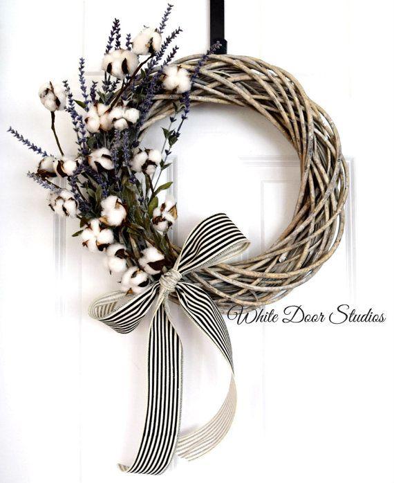 Southern Charm Wreath Front Door Wreath di WhiteDoorStudios