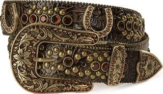 I LOVE this belt...Amber Bling Western Belt Horseshoes