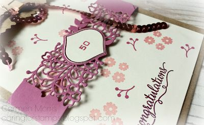 Kraft Bag, So in Love stamps set, So detailed Thinlits Dies from Stampin' Up!