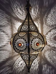 Lustre plafonnier suspension lampe luminaire lanterne marocaine oriental Indian