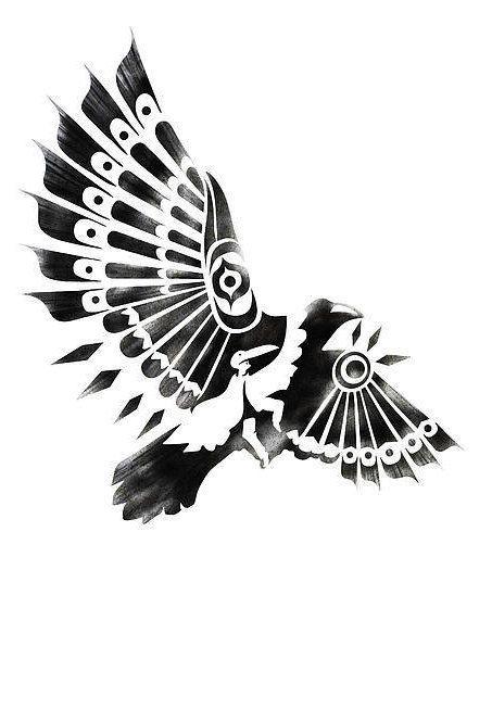 native american tattoo stencils | Raven - Native American