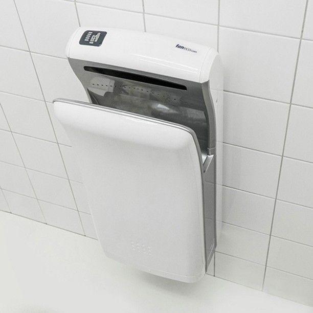 #Kieszeniowa #suszarka do rąk - obudowa: #plastik ABS - uruchamianie: #automatyczna - zastosowanie: #toaleta #publiczna // #handdryer #jethanddryer #publictoilet