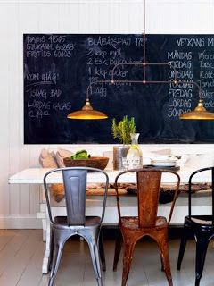 That Boho Chick: Gorgeous Brasserie and Redwood Dining Chairs