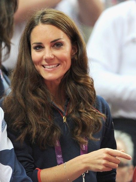 LONDON, ENGLAND - AUGUST 05:  Catherine, Duchess of Cambridge looks on during the Artistic Gymnastics Men's Pommel Horse Final on Day 9 of the London 2012 Olympic Games at North Greenwich Arena on August 5, 2012 in London, England.
