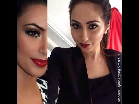 Kim Kardashian Smoky Eyes Red Lips | Artist of Makeup & Illamasqua | Tasneem Hijaab Styling & Makeup - http://47beauty.com/kim-kardashian-smoky-eyes-red-lips-artist-of-makeup-illamasqua-tasneem-hijaab-styling-makeup/  http://47beauty.com/beauty-tutorials/illamasqua/    https://www.avon.com/?repid=16581277  Kim Kardashian Inspired dewy bronzed skin, contour, smoky eyes and red lips using mainly Zukreat Artist of Makeup cosmetics and Illamasqua!  We would love to ma