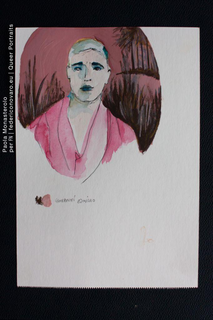 GIOVANNI COMISSO, di Paola Monasterolo. QUEER PORTRAITS, 24. - feat. Federico Boccaccini www.federiconovaro.eu