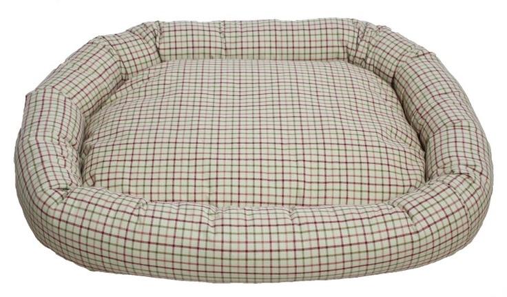 Ekose Desenli Köpek Yatağı
