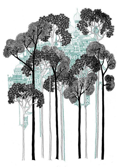 http://ryanpanos.tumblr.com/post/39449207947/illustrating-italo-calvino-by-david-fleck-follow