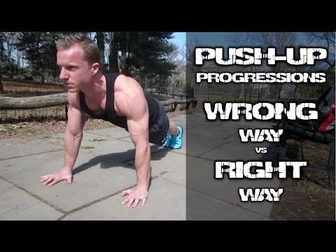 #Push-Up Tutorial: WRONG vs RIGHT way to do pushup progressions #FitFluential
