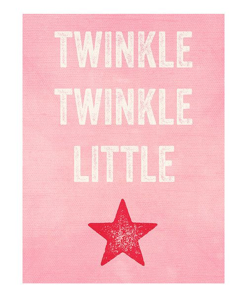 Twinkle, twinkle little star.