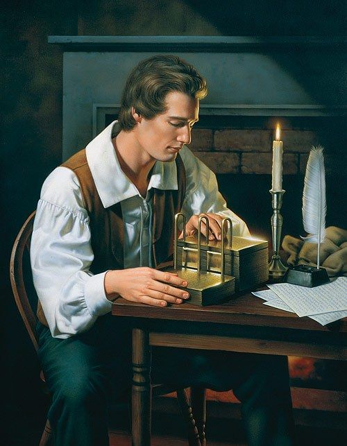 """""""These were days never to be forgotten—to sit under the sound of a voice dictated by the inspiration of heaven."""" –Oliver Cowdery http://lds.org/topics/book-of-mormon-translation Learn more about Joseph Smith's http://facebook.com/217921178254609 remarkable life experiences http://youtu.be/1xVw6PsSinI and discover for yourself the truth he helped restore as a modern-day witness of the Lord Jesus Christ."""