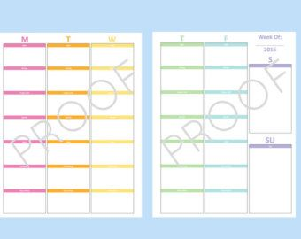 Adaptable image regarding discbound planner pages printable