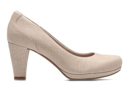 Clarks Chorus Chic - Nude Interest - Womens Smart Shoes   Clarks