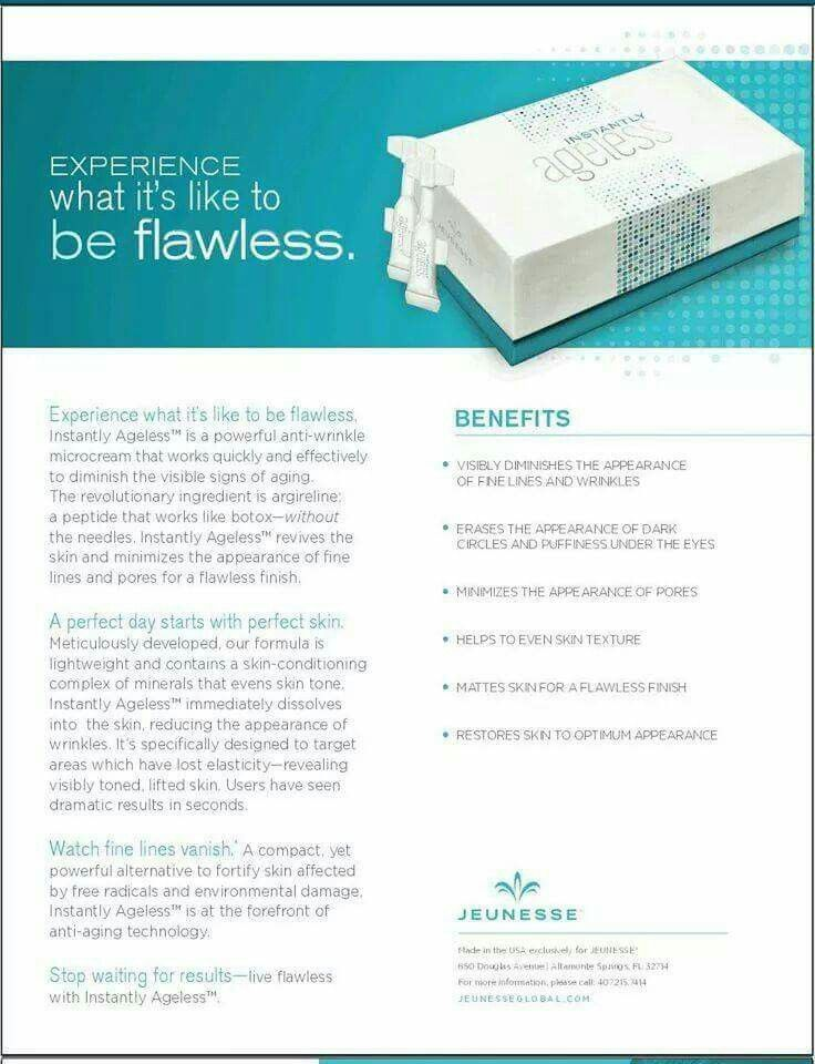 Instantly Ageless Brochure