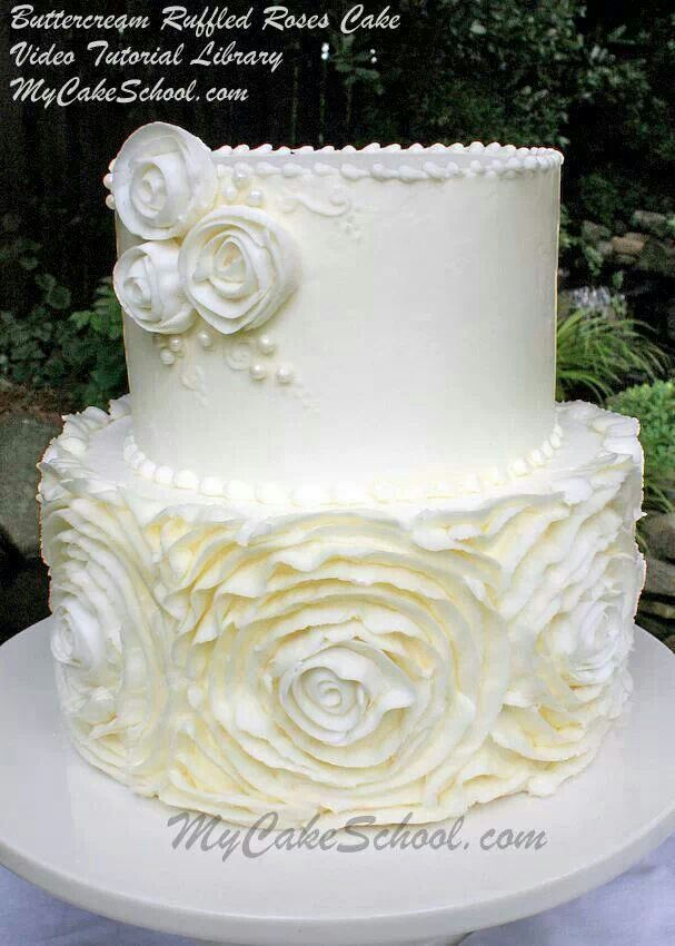 how to make ruffle roses on wedding cake 43 best images about cakes buttercream on 15987