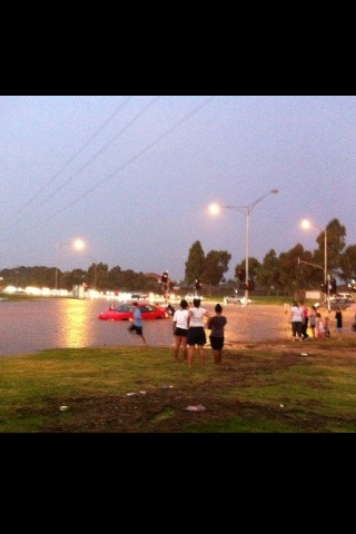 Floods, outer east Melbourne. 2011