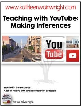 This is a free resources perfect for using with short films in the classroom to teach/ reinforce making inferences. I developed this resource to be used with three short films that can be found on my blog by clicking HERE. This resource includes suggested questions that can be used to guide student discussion around making inferences along with a printable that can be used as classwork or an exit slip. *Visit  My Blog to read more about how to use this resource in the classroom.