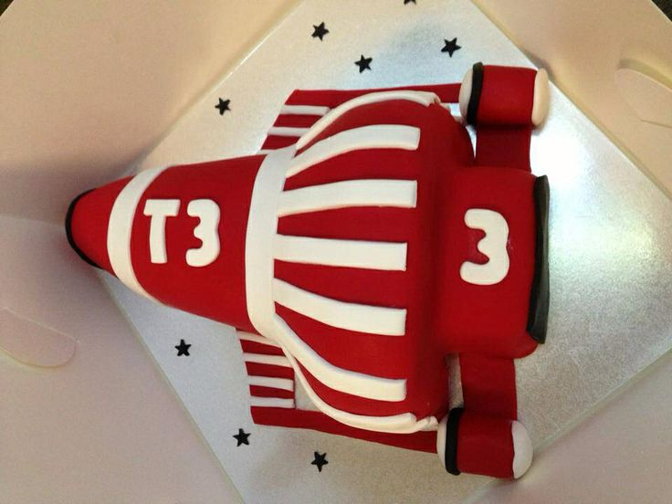 Thunderbirds T3 shaped cake