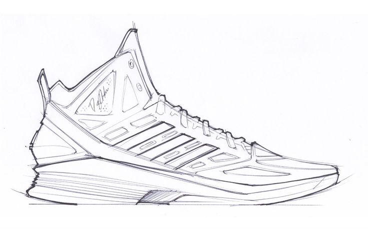 concept sketch, profile view