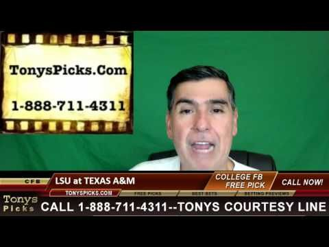 LSU Tigers vs. Texas A M Aggies Pick Prediction NCAA College Football Od...