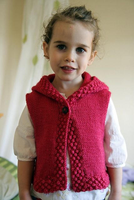 knitted vest but maybe I can try to crochet a similar one