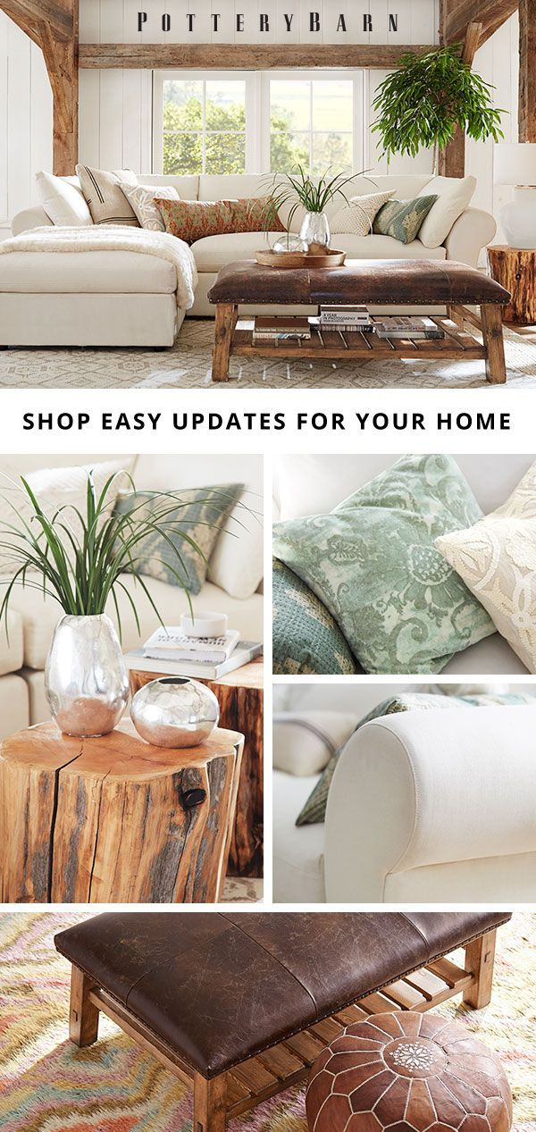 living room pottery barn%0A     so set the tone for relaxation with soothing palettes  natural  materials and timeless design  Shop an array of new pillows  decor and  accessories to