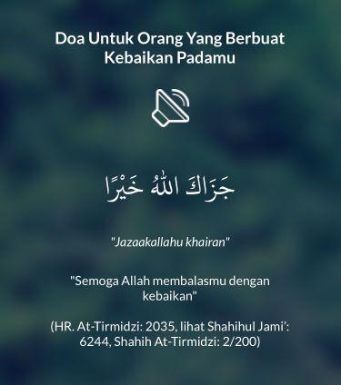 Doa Untuk Orang Yang Berbuat Kebaikan Padamu shared from #DoaHarianApp for iOS