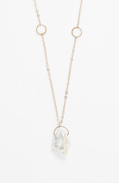 Melissa Joy Manning Keshi Pearl Pendant Necklace available at #Nordstrom
