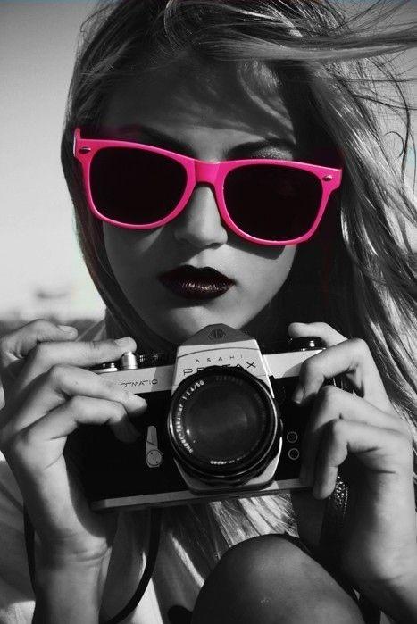 A Splash of Pink.  cheap fashion women sunglasses