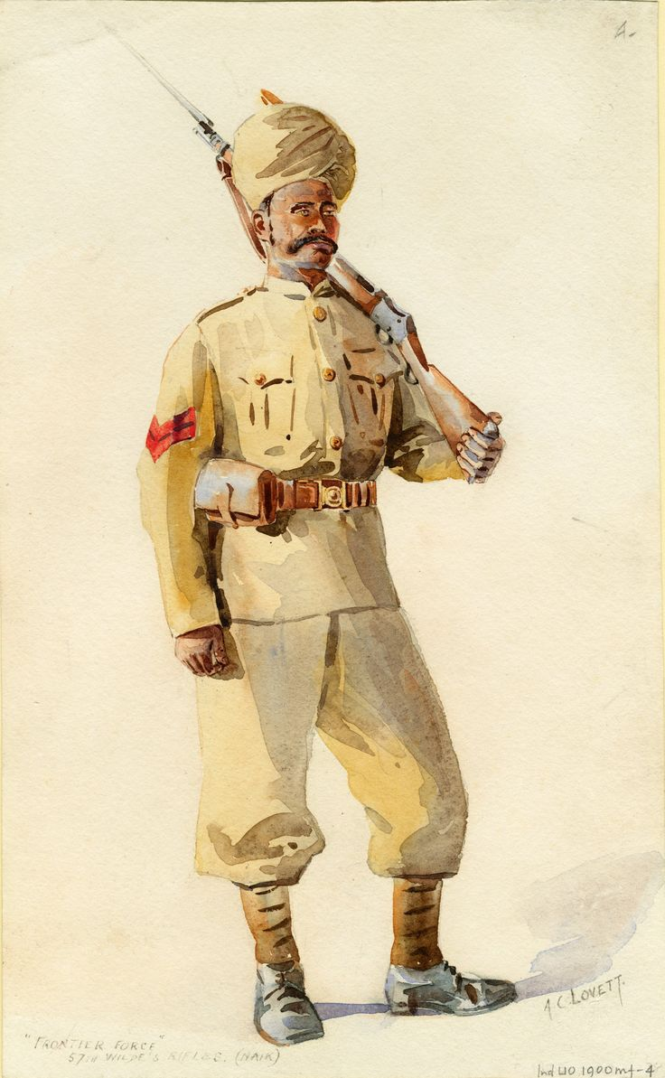 British; Frontier Force, 57th Wilde's Rifles, Naik, c.1900 by A.C.Lovett.