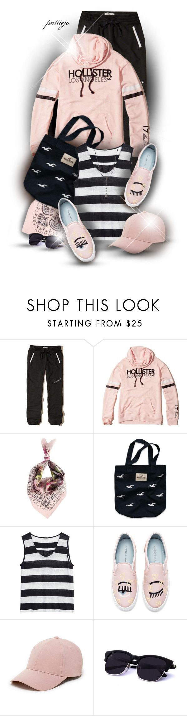 """""""The Eyes Have It"""" by rockreborn ❤ liked on Polyvore featuring Hollister Co., Ternary London, Nicole Farhi, Chiara Ferragni, Sole Society and Bavna"""