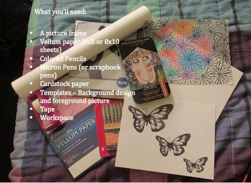 Lifestyle | Food | Art | Faith | Music : DIY Craft : gift idea : Craft Time!! #art #artprojects #artsandcrafts #artsy #blackandwhite #color #coloredpencils #DIY #fun #howto #micronpens #PrismaColor #vellumpaper
