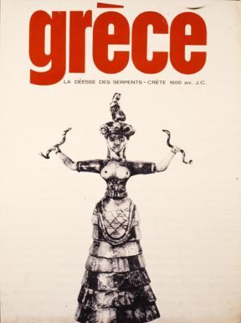 GRECE 1960. CRETE. La deesse des serpants. (Η Θεότητα των φιδιών 1.600 π.Χ.).