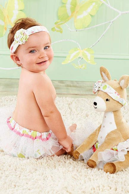 Baby Aspen Flora The Fawn Plush Plus Deer with Bloomers and Headband (Baby Girls) #sale#babyclothes  #newborn #princess #party #littleadditions