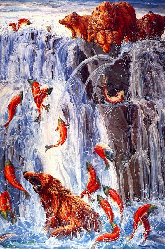 [LRS Art Medley] Melissa Miller, Salmon Run