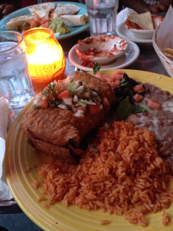Grilled chicken chimichanga at Arriba Arriba restaurant in NY