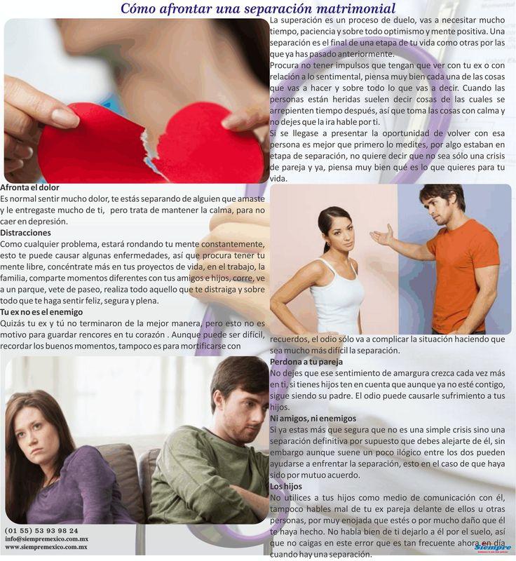 Cómo afrontar una separación matrimonial