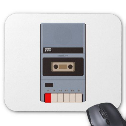Cassette Tape Recorder Mouse Pad - retro gifts style cyo diy special idea