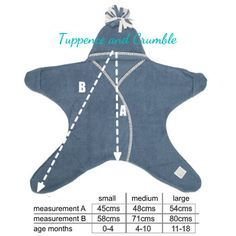 Star Baby Wrap 'Naturals'--Measurements!