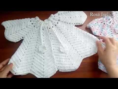 Abrigo o batita para niña Talla desde recién nacido a 9 meses - YouTube a5712bf5bf9c