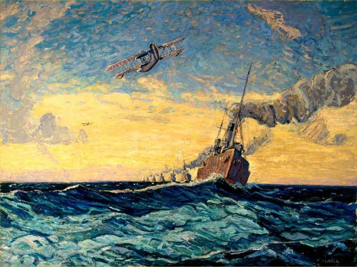 Minesweepers, Halifax, 1919, Arthur Lismer, oil on canvas, 48.3 x 64.4 in., Canada