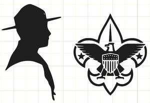 Free Boy Scout Printables for Scrapbooking and Card Making: Boy Scout Die Cut Files