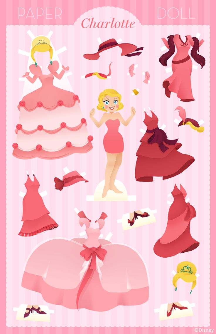 When we think of pink, we think of Charlotte from The Princess and the Frog.