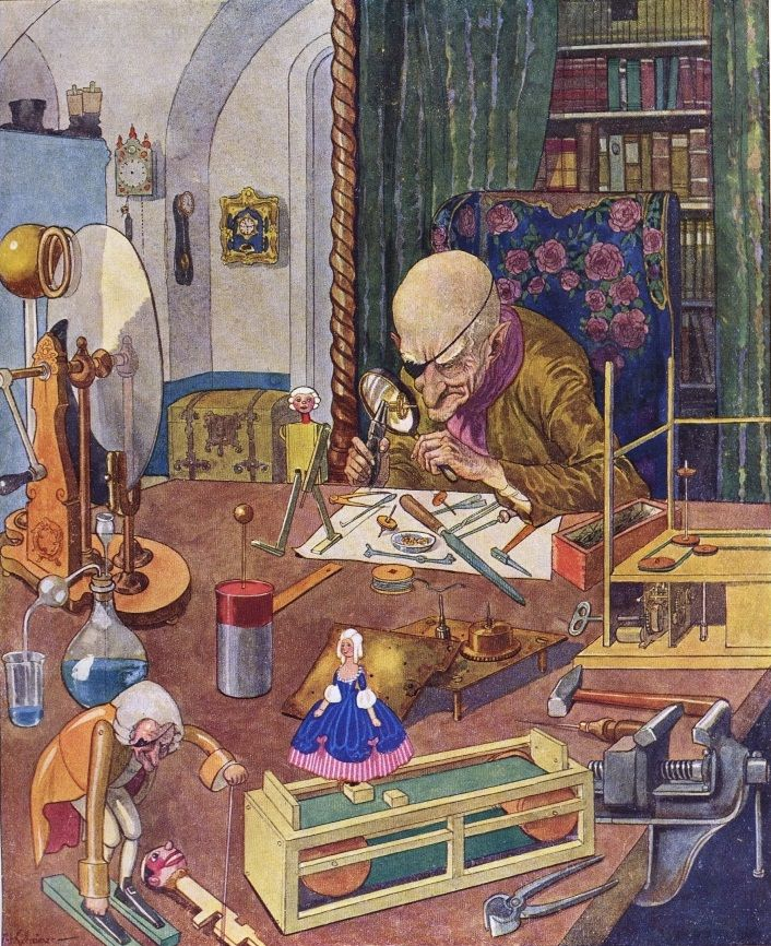 E. T. A. Hoffmann´s The Nutcracker and the Mouse King    Illustrared by Artuš Scheiner. Published in 1924 in Prague.