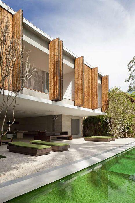 .: Sao Paulo, Ideas, Home Interiors Design, Marcio Kogan, Outdoor Spaces, Outdoor Area, Pools, Shutters, Architecture Design