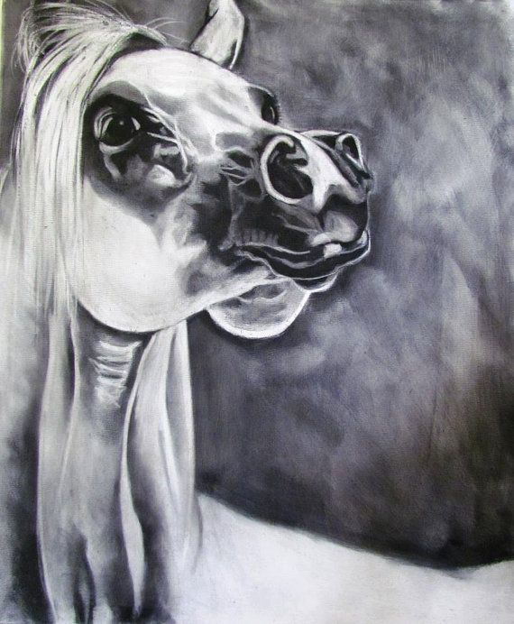 Handmade Cards featuring Original Equine and animal Art. Charcoal and Graphite freestyle art on canvas then reprinted onto handmade papers . via Etsy