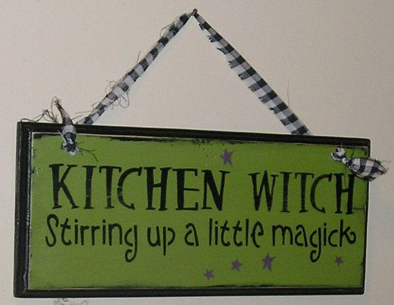 Sale/Ready to Ship/Kitchen Witch Sign/Wiccan/Halloween Sign/Halloween Decor/Stirring up a little Magic/Halloween Decor/Holiday Sign