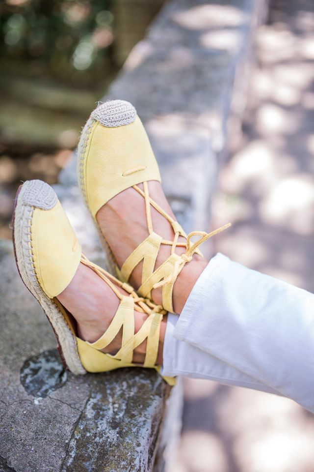Yellow Espadrilles   Three Ways