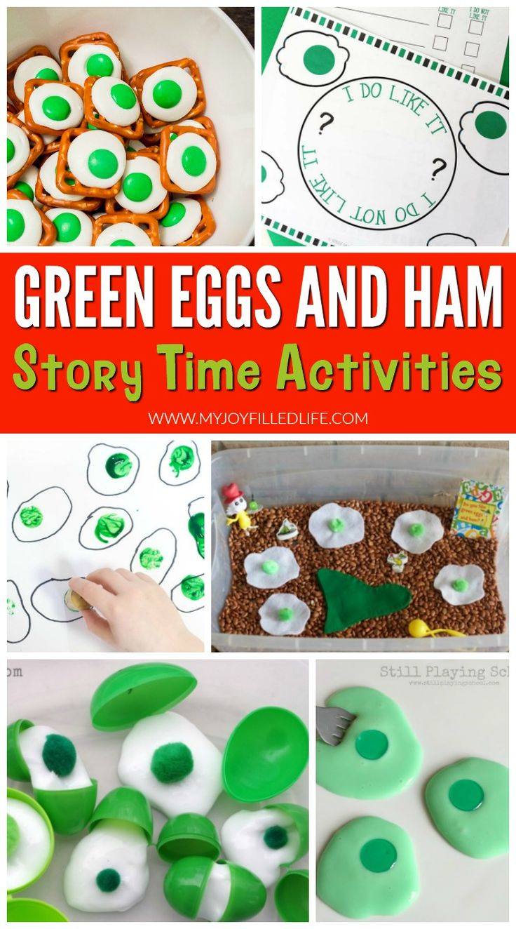 Green Eggs and Ham activities to make story time even more fun and memorable! #drseuss #storytime